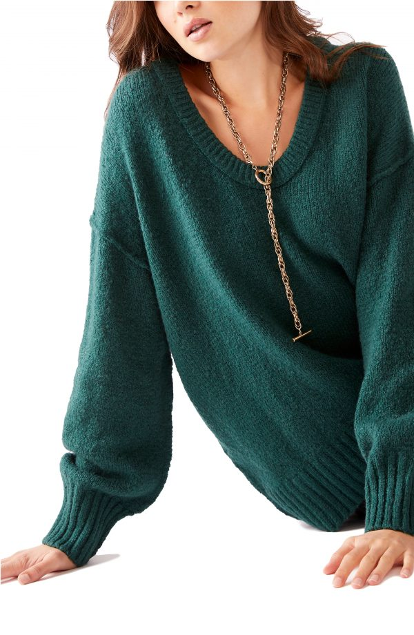 Women's Free People Brookside Sweater, Size X-Small - Green