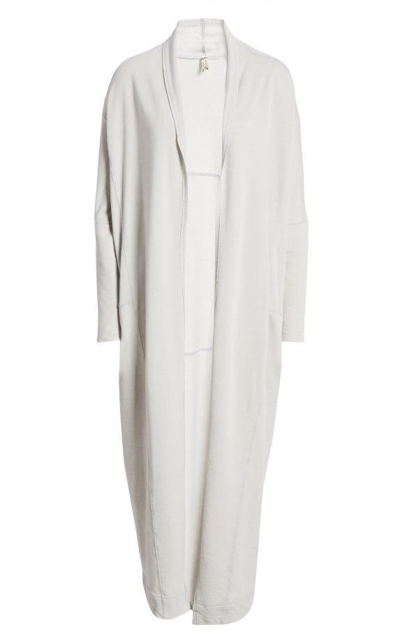 Women's Free People Cozy Girl Longline Cardigan, Size Small - Grey
