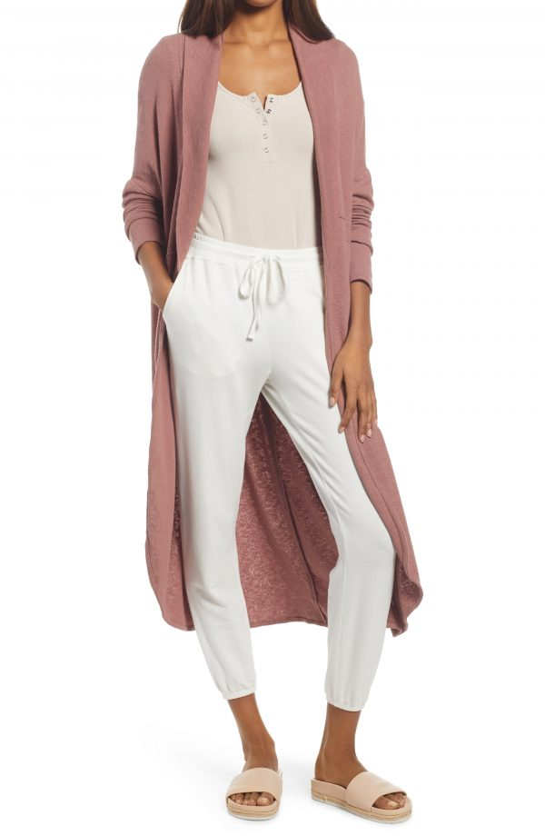Women's Free People Cuddle Up Longline Cardigan, Size X-Small - Coral