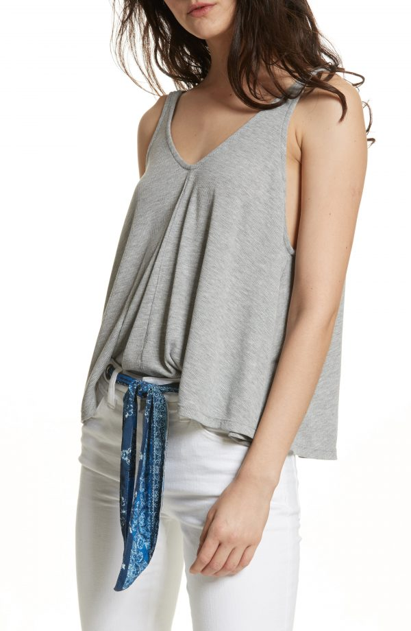 Women's Free People Dani Swing Tank, Size X-Large - Grey