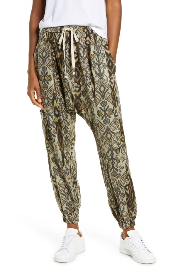 Women's Free People Fp Movement Rise To The Sun Harem Pants, Size Small - Green