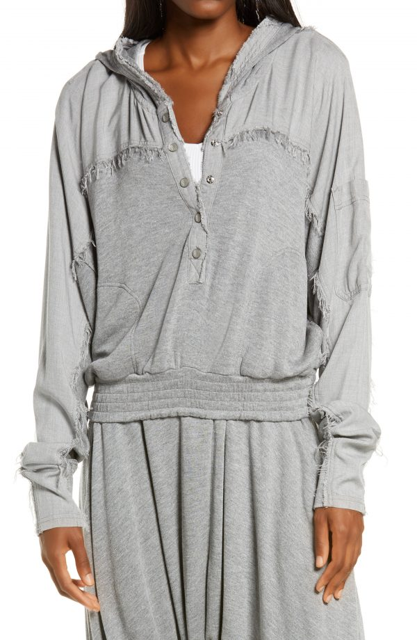 Women's Free People Fp Movement Windy Meadow Hoodie, Size Small - Grey