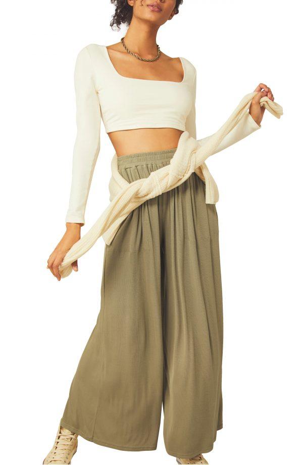 Women's Free People Giana Knit Set, Size Small - Brown