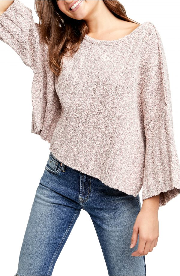 Women's Free People Good Day Pullover, Size Small - Purple