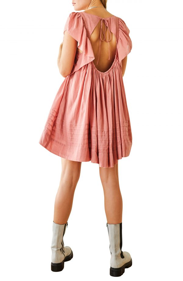 Women's Free People Hailey Ruffle Babydoll Minidress, Size X-Small - Pink