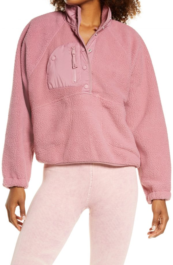 Women's Free People Hit The Slopes Pullover, Size Large - Pink