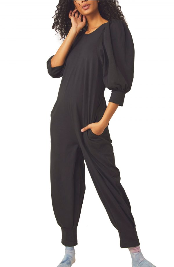 Women's Free People Jackie V-Back Jumpsuit, Size X-Small - Black