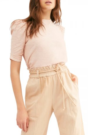 Women's Free People Just A Puff T-Shirt, Size Large - Pink