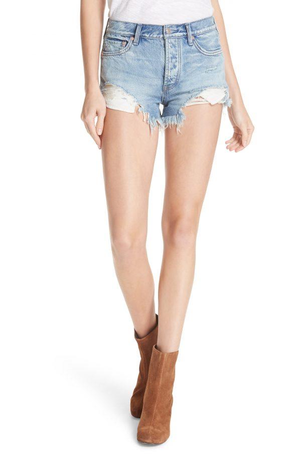 Women's Free People Loving Good Vibrations Shorts, Size 24 - Blue