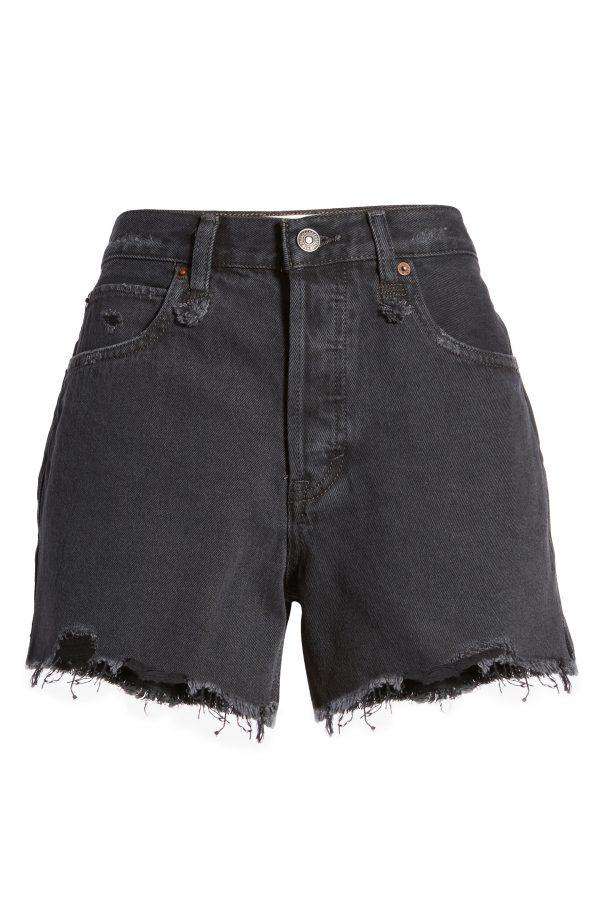 Women's Free People Makai Cut Off Shorts, Size 24 - Black