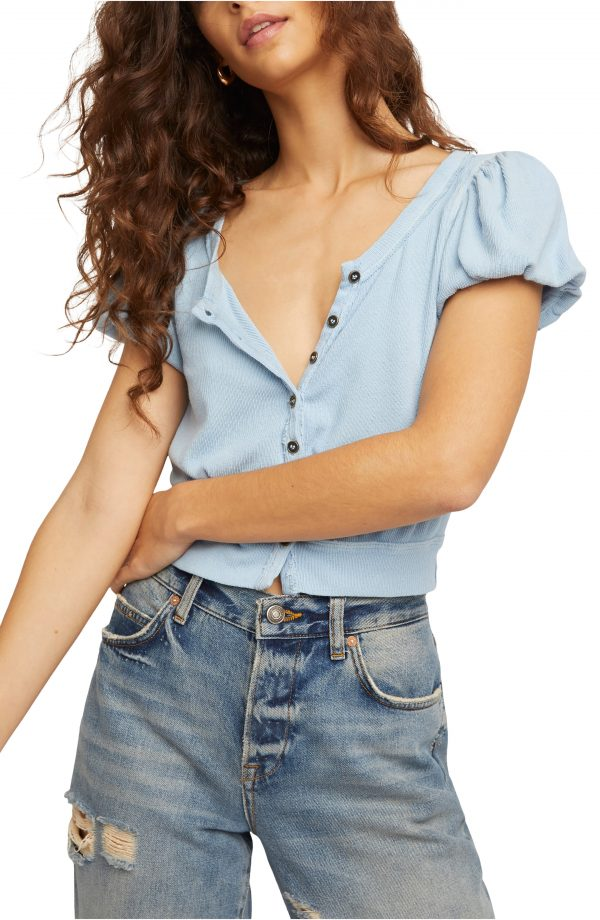 Women's Free People Molly Top, Size X-Small - Blue