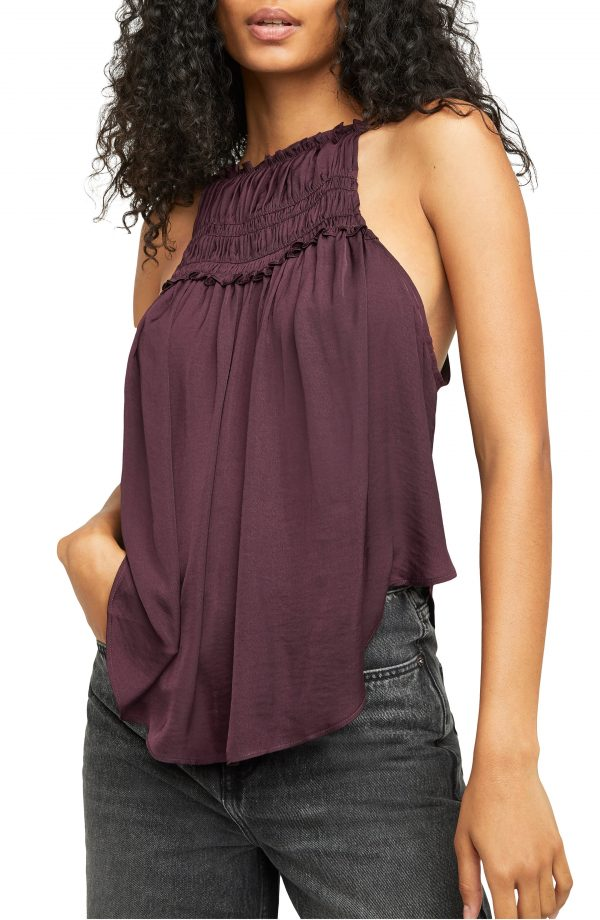 Women's Free People My Oh My Tank, Size Small - Black
