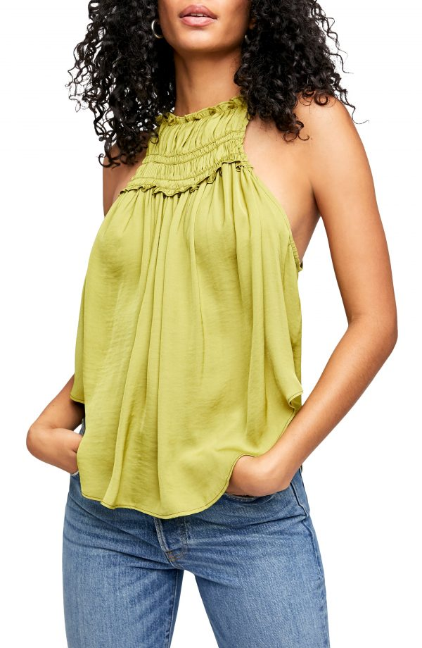 Women's Free People My Oh My Tank, Size X-Small - Green