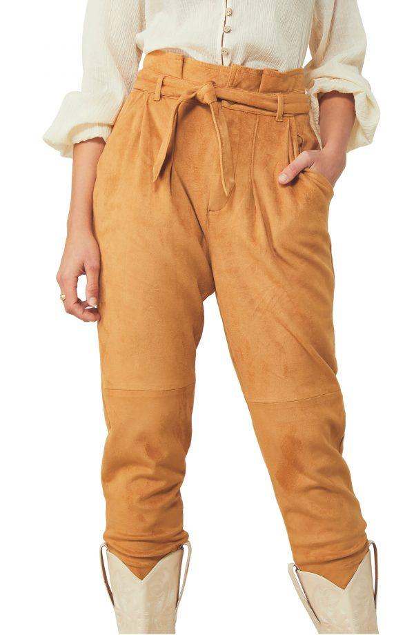 Women's Free People Nightfall Crop Pants, Size 4 - Beige