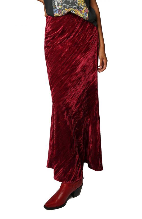 Women's Free People Noa Velvet Slip Skirt, Size Medium - Pink
