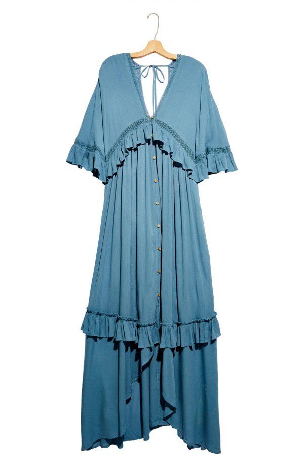 Women's Free People Paradiso Maxi Dress, Size X-Small - Blue