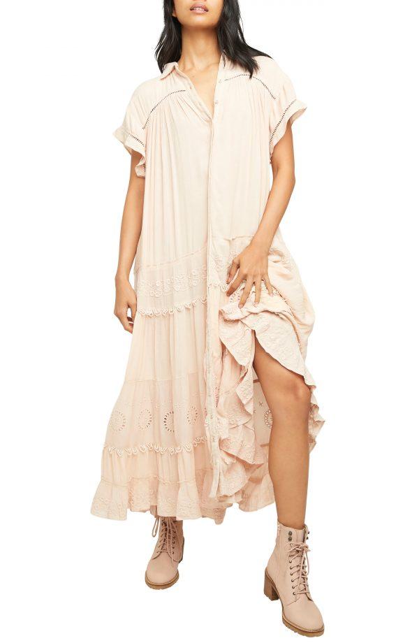 Women's Free People Pretty Cozy Maxi Dress, Size X-Small - Ivory