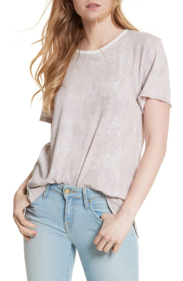 Women's Free People Print Me Perfect Tee, Size Small - Ivory