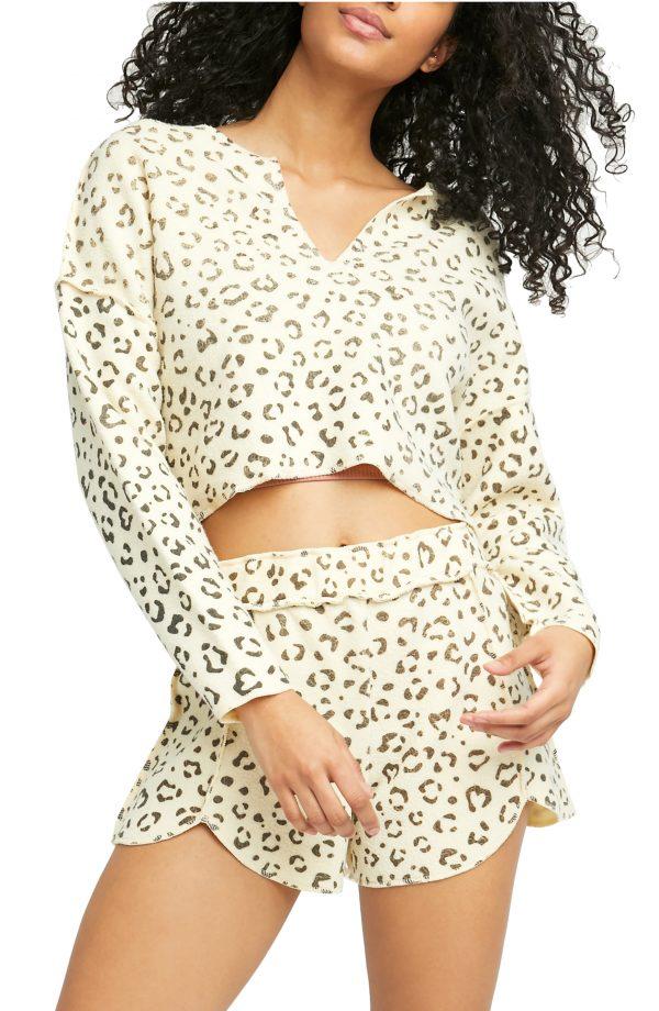 Women's Free People Rain Check Short Pajamas, Size X-Small - Ivory