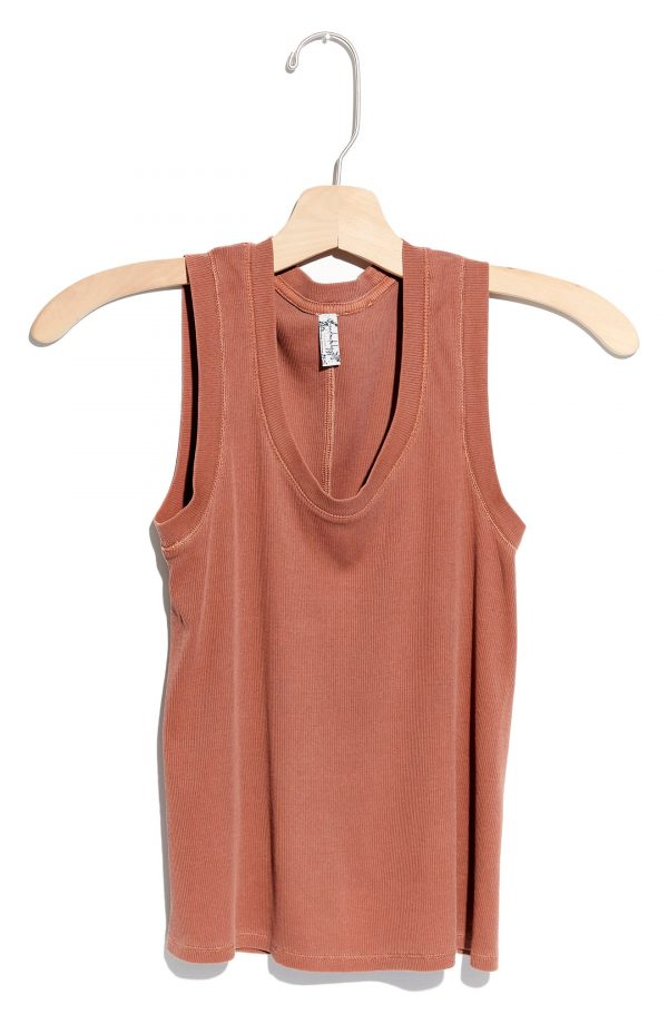 Women's Free People Scoop Neck Tank, Size X-Small Regular - Red
