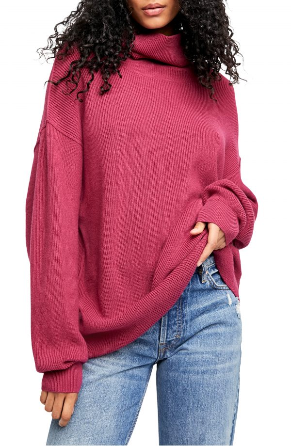 Women's Free People Softly Structured Knit Tunic, Size X-Small - Red