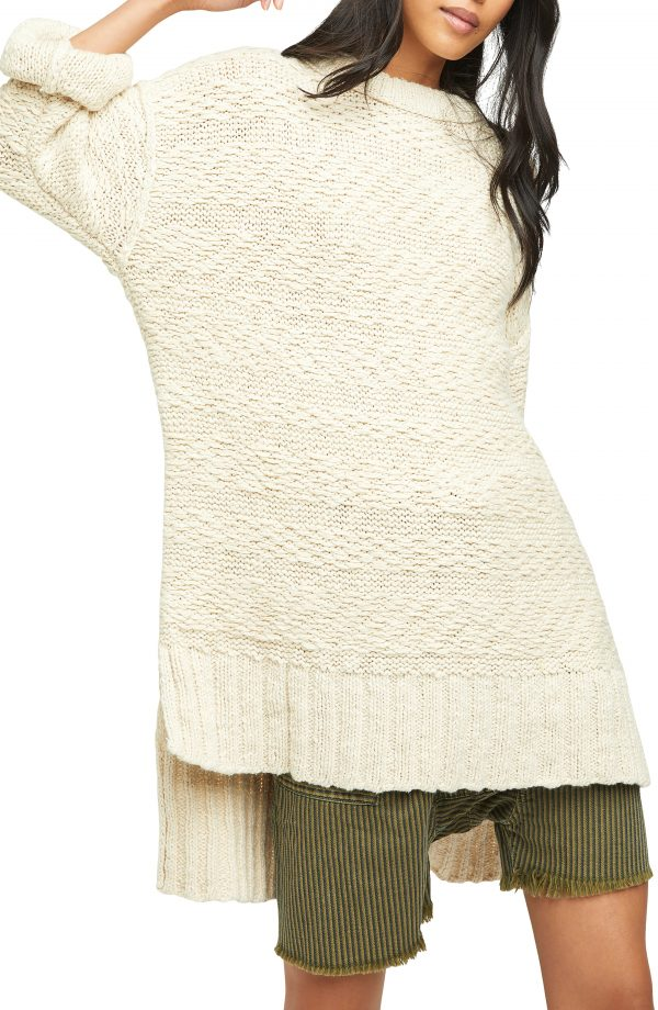 Women's Free People Sparrow Oversize Sweater, Size X-Small - Ivory