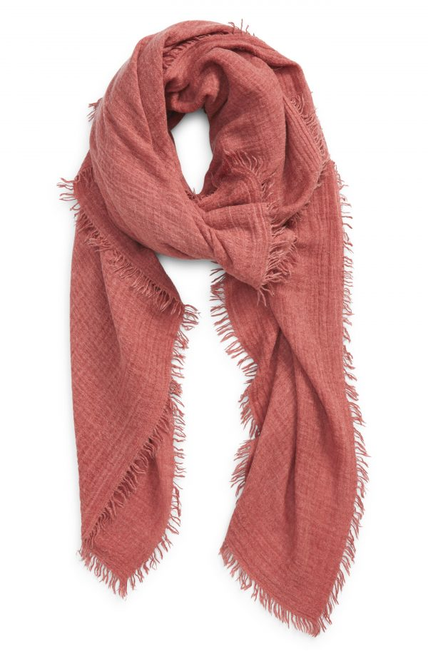 Women's Free People Sun Washed Travel Scarf, Size One Size - Red