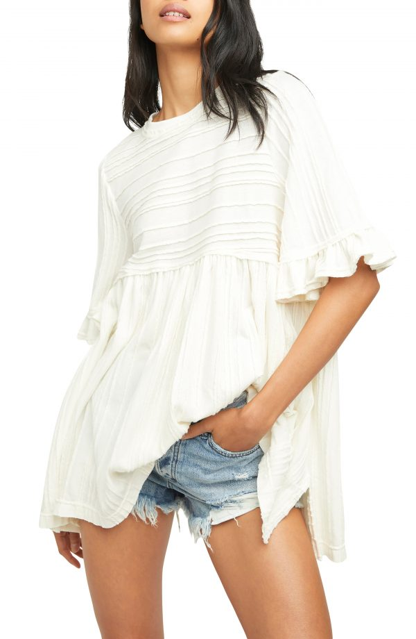 Women's Free People Take A Spin Tunic, Size X-Small - Ivory