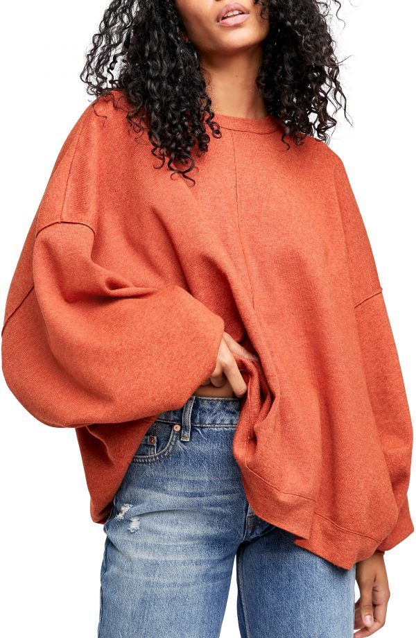 Women's Free People Uptown Pullover, Size X-Small - Red