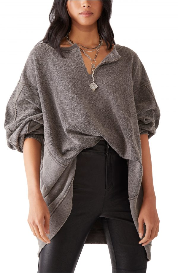 Women's Free People With The Band Sweatshirt, Size X-Small - Black