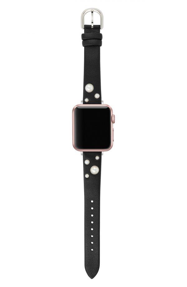 Women's Kate Spade Apple Watch Leather Strap