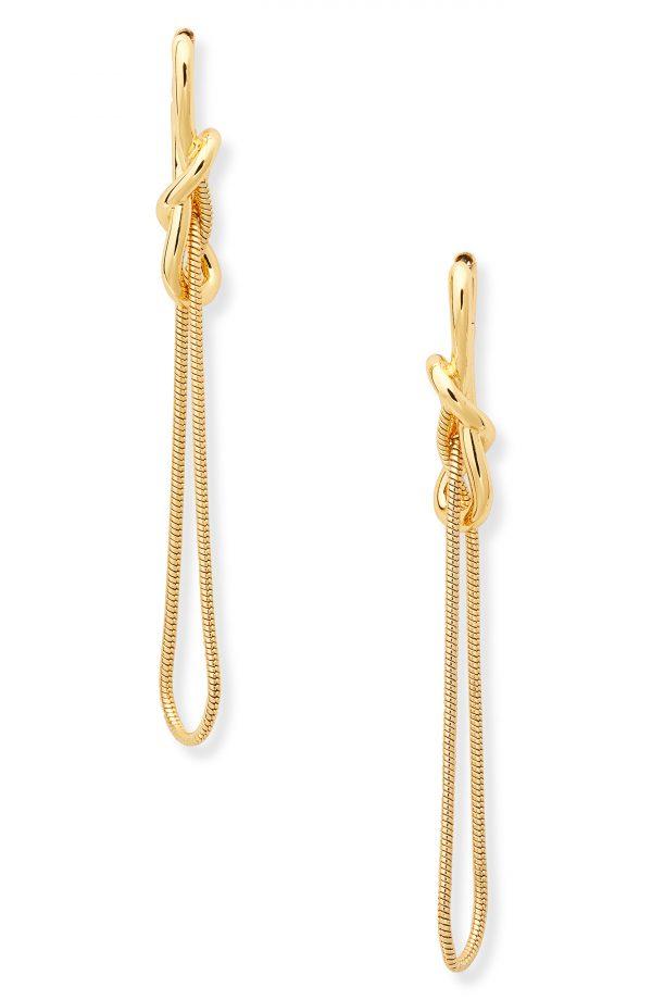 Women's Kate Spade Jewelry With A Twist Linear Drop Earrings