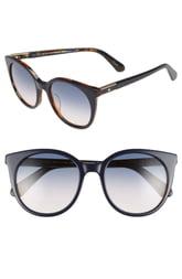 Women's Kate Spade New York Akayla 52mm Cat Eye Sunglasses - Black/ Blue