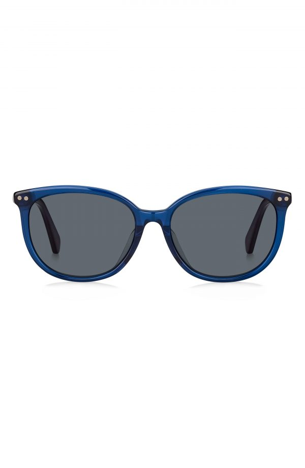 Women's Kate Spade New York Alina 55mm Gradient Cat Eye Sunglasses - Blue/ Grey Blue