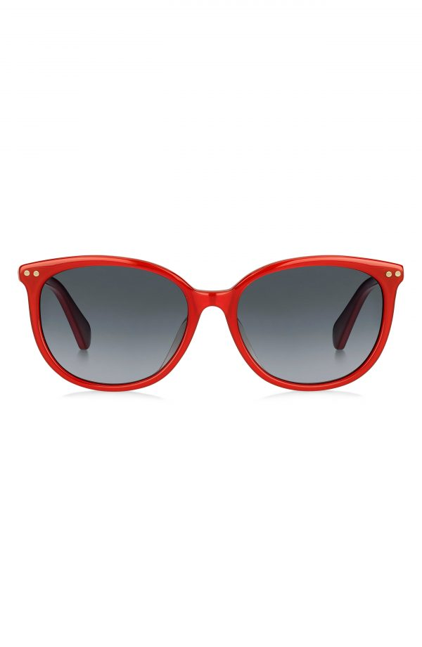 Women's Kate Spade New York Alina 55mm Gradient Cat Eye Sunglasses - Red/ Dark Grey Gradient