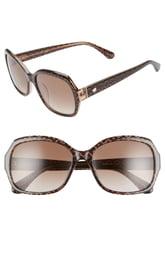 Women's Kate Spade New York Amberlynn 57mm Sunglasses - Brown/ Gold