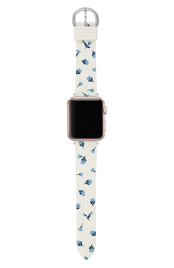 Women's Kate Spade New York Apple Watch Floral Silicone Strap