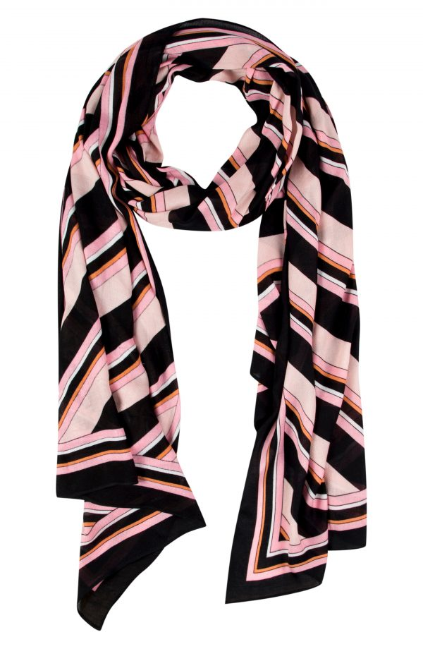 Women's Kate Spade New York Aquatic Stripe Oblong Scarf, Size One Size - Black