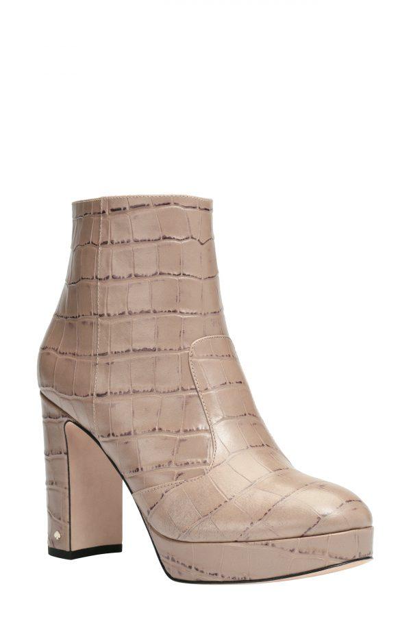 Women's Kate Spade New York Barrett Platform Bootie, Size 5.5 B - Brown