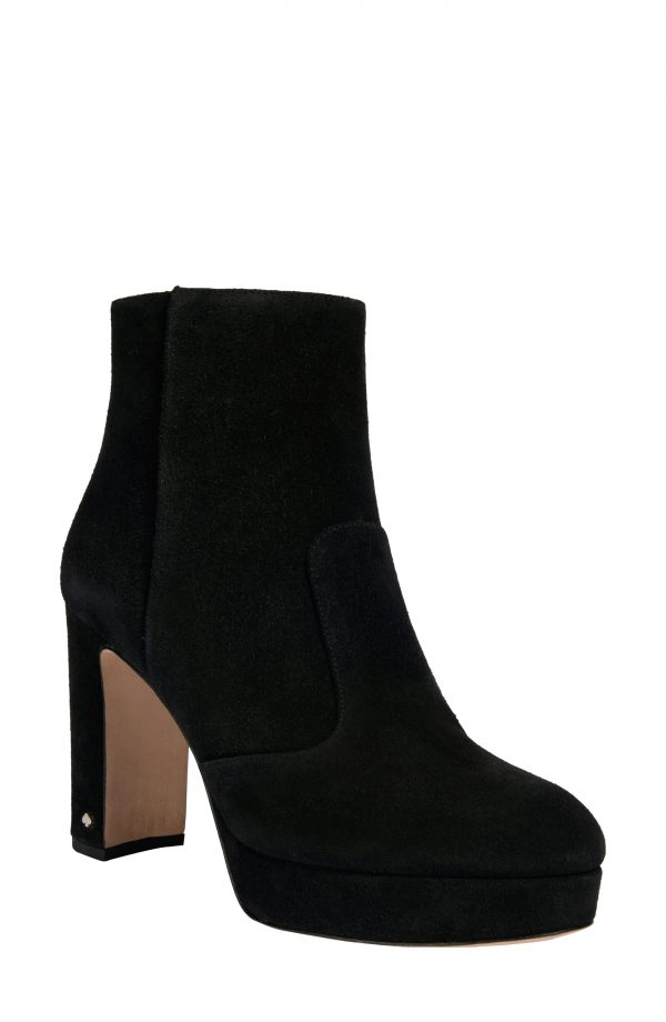 Women's Kate Spade New York Barrett Platform Bootie, Size 6.5 B - Black