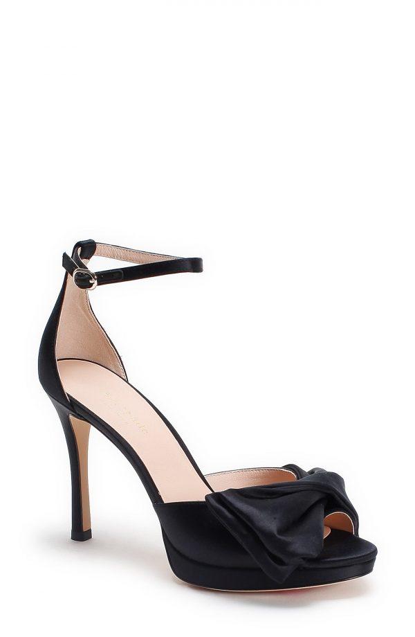 Women's Kate Spade New York Bow Ankle Strap Sandal, Size 8 M - Black