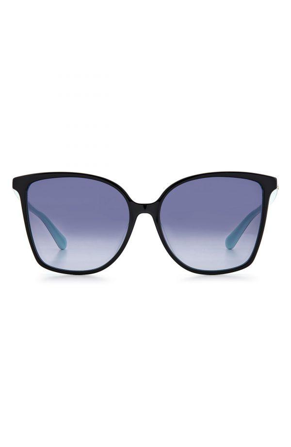 Women's Kate Spade New York Brigitte 58mm Gradient Cat Eye Sunglasses - Black/ Grey Shaded