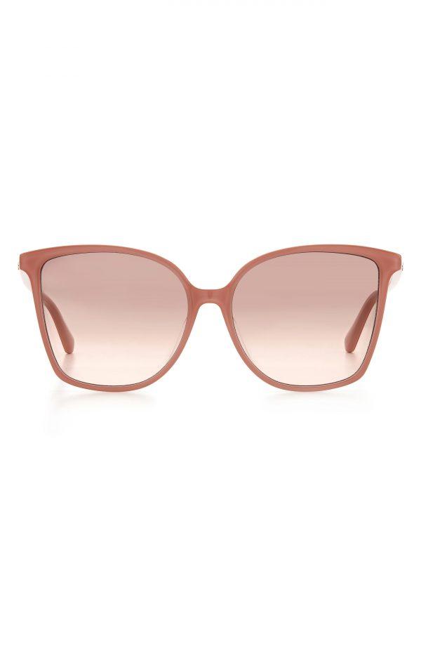 Women's Kate Spade New York Brigitte 58mm Gradient Cat Eye Sunglasses - Pink/ Brown Pink Gradient