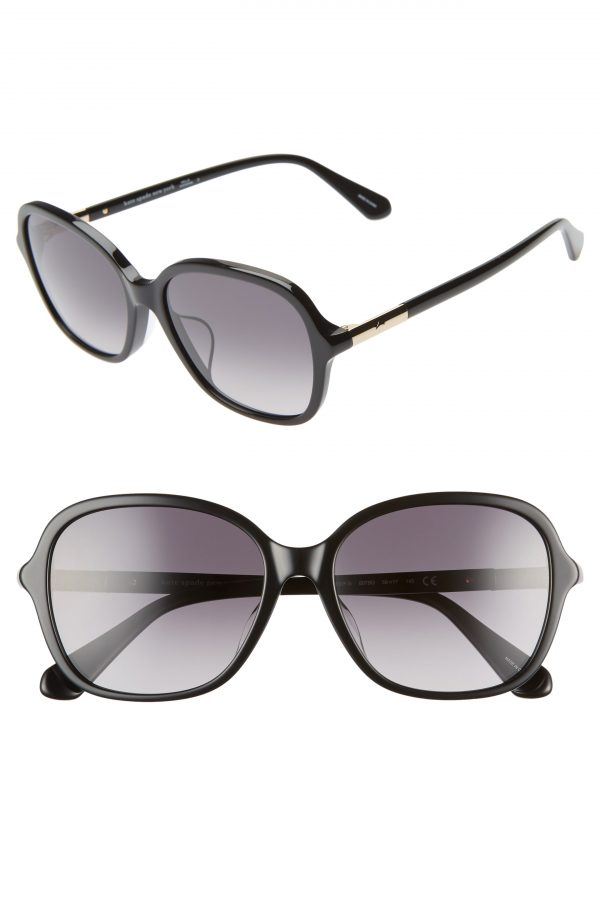 Women's Kate Spade New York Bryleefs 56mm Round Sunglasses - Black
