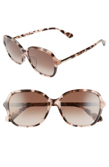 Women's Kate Spade New York Bryleefs 56mm Round Sunglasses - Pink Havana