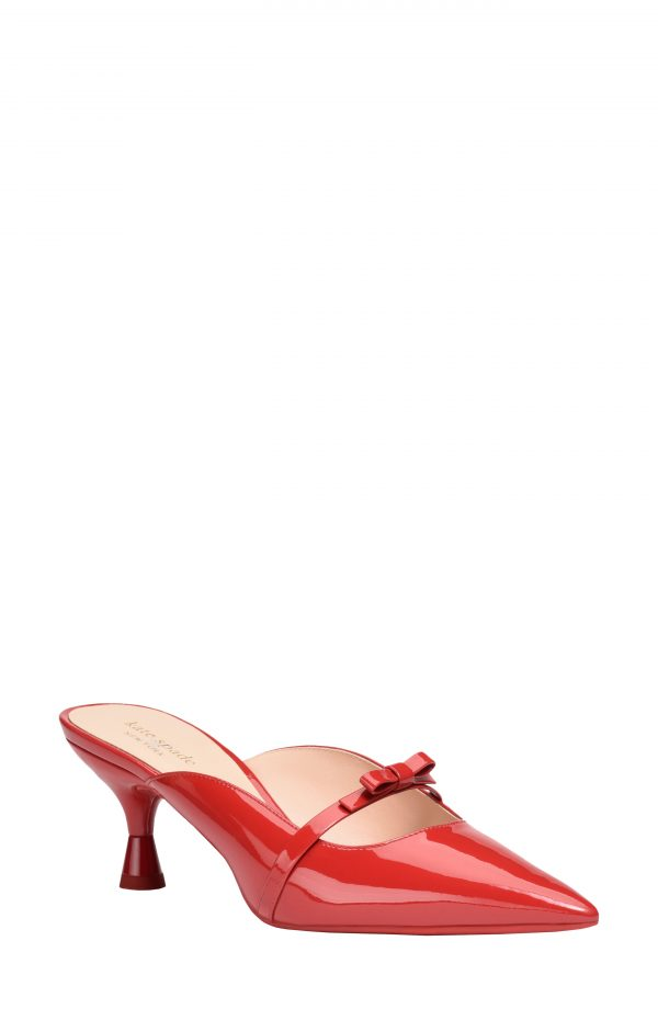 Women's Kate Spade New York Carnation Pointed Toe Mule, Size 7.5 B - Red