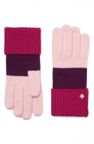 Women's Kate Spade New York Colorblock Gloves, Size One Size - Pink