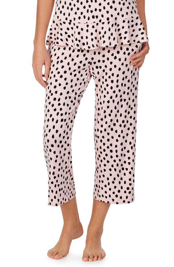 Women's Kate Spade New York Crop Sleep Pants, Size Small - Pink