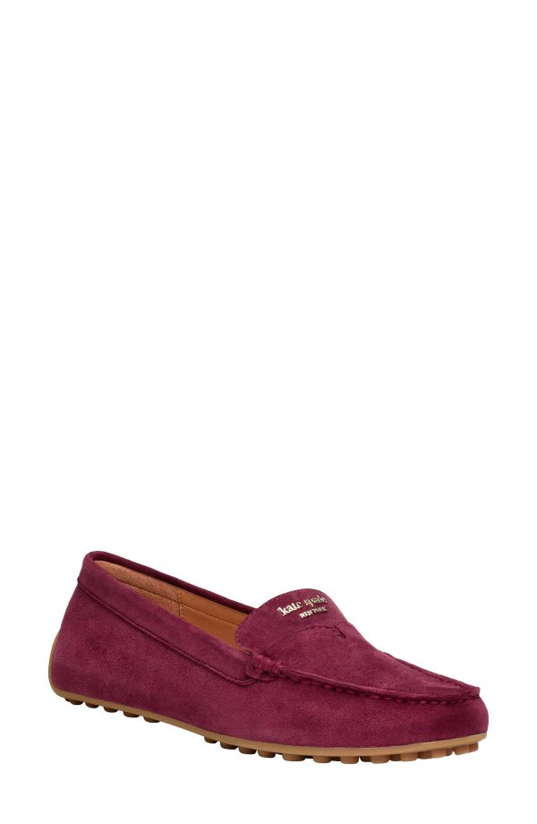 Women's Kate Spade New York Deck Driving Loafer, Size 6 B - Burgundy