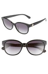 Women's Kate Spade New York Emaleigh 55mm Cat Eye Sunglasses - Black/ Green